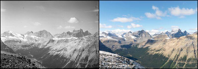 Montanhas na área selvagem do Canadá
