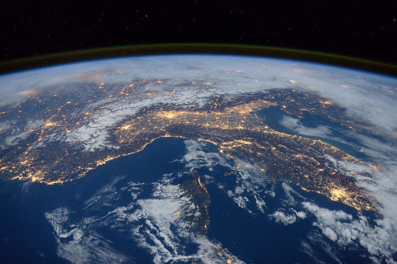 visão da Estação Espacial Internacional