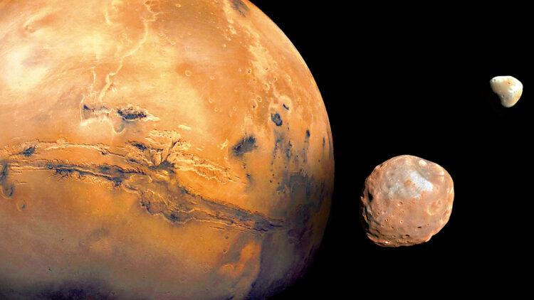 Marte e luas