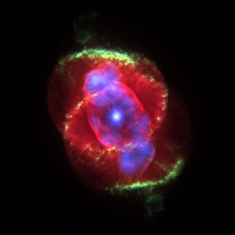 Nebulosa olho de gato. (Créditos da imagem: J.P. Harrington and K.J. Borkowski (University of Maryland), and NASA).