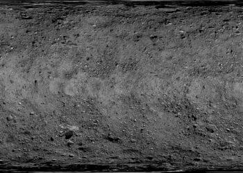 Mosaico do asteroide Bennu. (Créditos da imagem: NASA/Goddard/University of Arizona.).