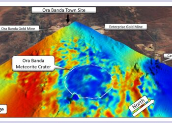 O local da cratera. (Créditos da imagem: Resource Potentials).