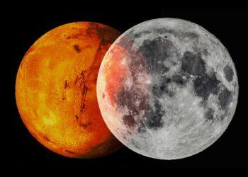 Lua e Marte