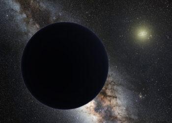Concepção artística do Planeta Nove. (Tom Ruen).
