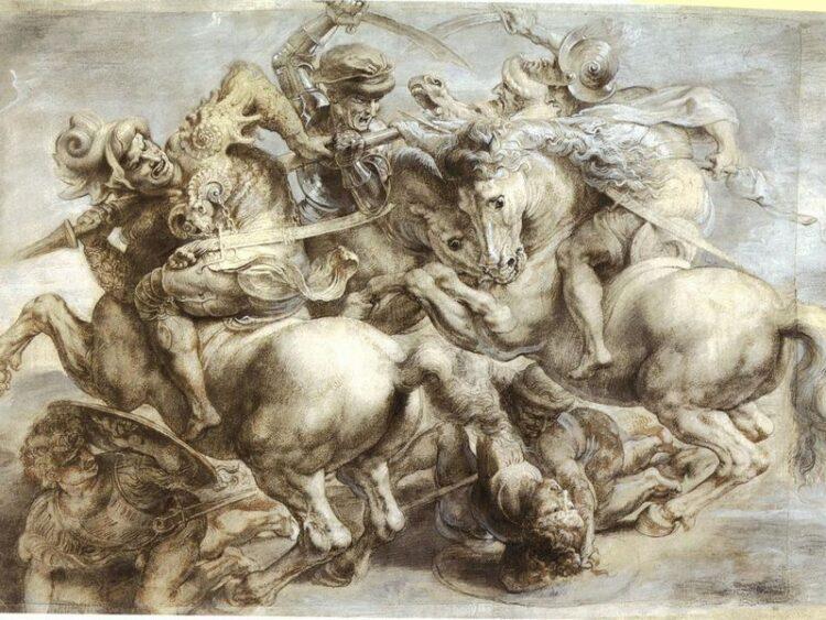 a batalha de anghiari leonardo da vinci