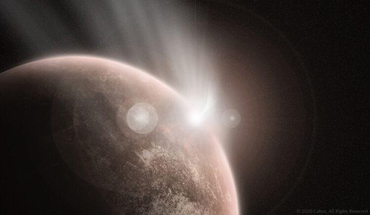Concepção artística de um grande impacto em Vênus. (Créditos da imagem: Sam Cabot).