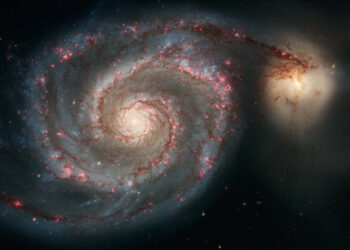 Esta é a galáxia M51. (Créditos da imagem: NASA/ESA/S. Beckwith).
