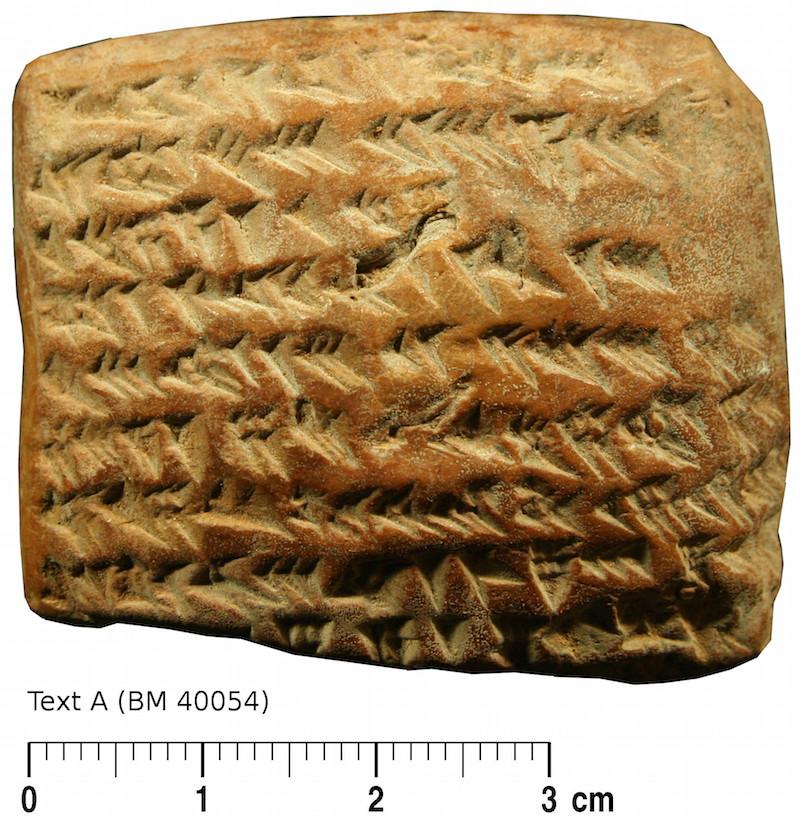 Tábua cuneiforme para rastrear Júpiter. (Créditos da imagem: British Museum/Mathieu Ossendrijver).