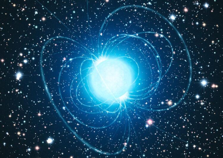 Impressão artística de um magnetar. (ESO/L. Calçada).