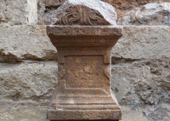 deus grego homenageado em igreja bizantina