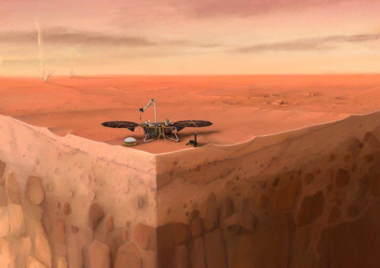 A missão InSight investiga o interior de Marte e pode ajudar a responder essa questão no futuro. (IPGP/Nicolas Sarter).