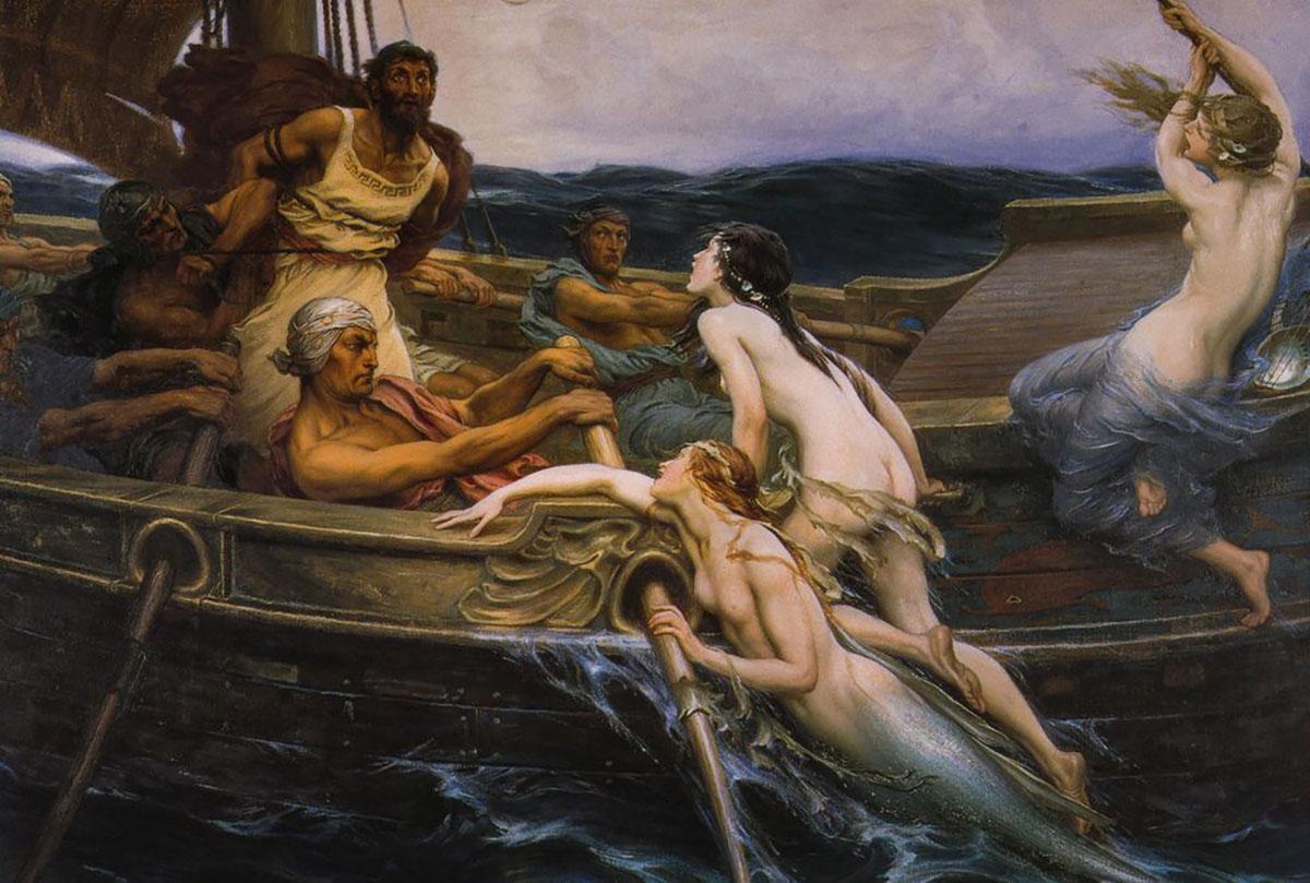 Histórias de sereias na Grécia Antiga.
