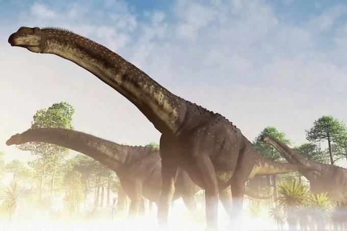 Fósseis encontrados na Patagônia podem ter pertencido ao maior animal terrestre da história, um novo dinossauro argentino. Confira: (James Kuether / Science Photo Library/Divulgação   Leia mais em: https://super.abril.com.br/ciencia/fosseis-encontrados-na-argentina-podem-pertencer-ao-maior-dinossauro-ja-descoberto/)