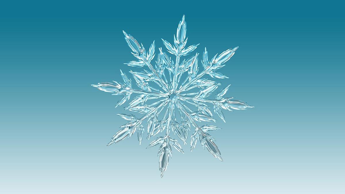 Como se formam os flocos de neve?