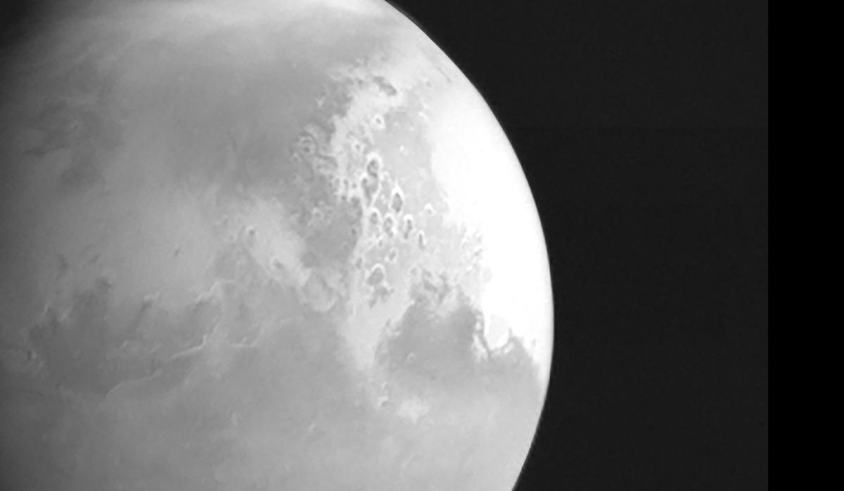 Primeira foto de Marte