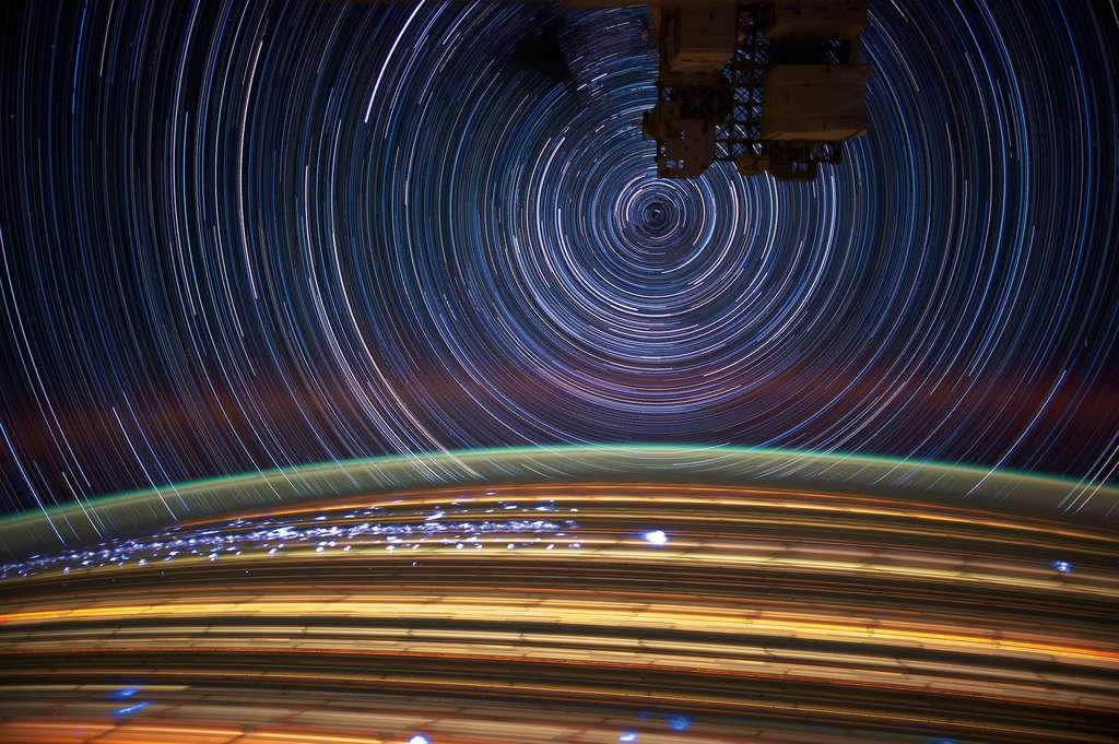 estrelas em movimento via ISS NASA