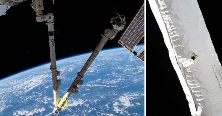 Detritos danificam estação espacial internacional