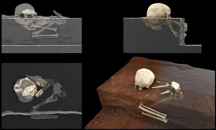 Pesquisadores encontraram o sepultamento mais antigo do Continente Africano. Imagem: Jorge González/Elena Santos