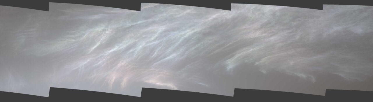 nuvens estranhas e coloridas