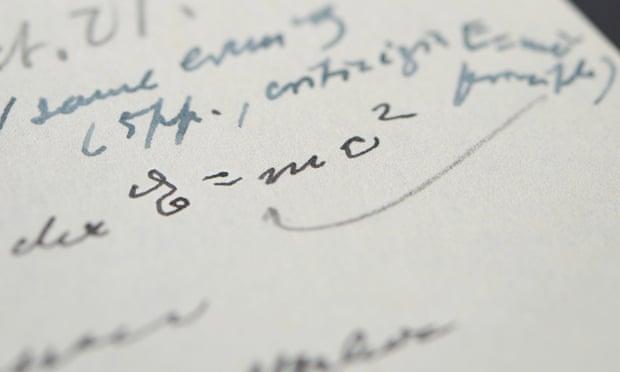 carta de einstein com e=mc2