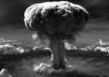 """Imagem: Detonação da bomba """"Little Boy"""" em Hiroshima no Japão em 1945"""