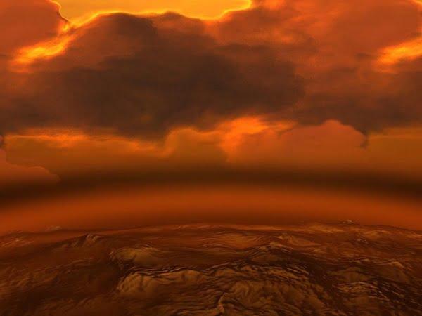 arte sobre atmosfera de vênus